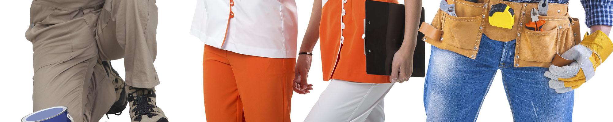 2-stampa pantaloni lavoro personalizzati Vercelli logo - Jasp Srl Borgosesia